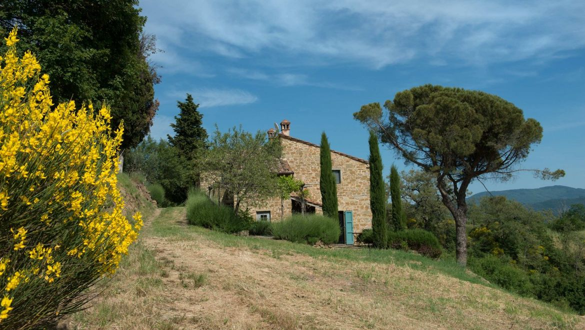 Rolling Hills Italy -  Farmhouse located in Val di Chio for sale